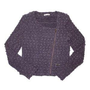 Promod Purple Moto Jacket LARGE